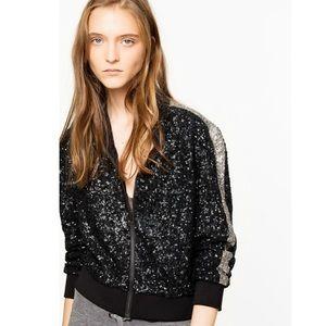 Zadig & Voltaire Sequin/Silk Jacket XS